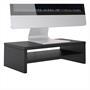 Bildschirmaufsatz SUBIDA in schwarz mit Ablagefach