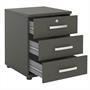 Bürocontainer TORONTO, 3 Schubladen in anthrazit