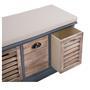 Sitzbank TRIENT in grau/natur mit Sitzkissen, 3 Schubkästen