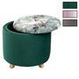 Hocker BONITO Samtbezug in verschiedenen Farben mit Blumenmotiv